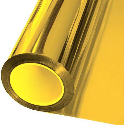 Adesivo Cromado Metálico Ouro (Largura 1,06m) - VENDA POR METRO