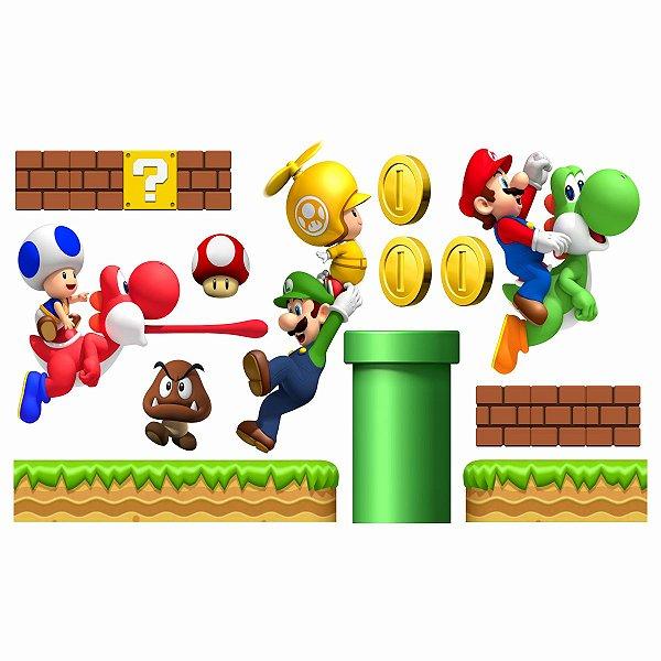 Adesivo Recortado - Cenário Super Mario Bros (1m x 50cm)