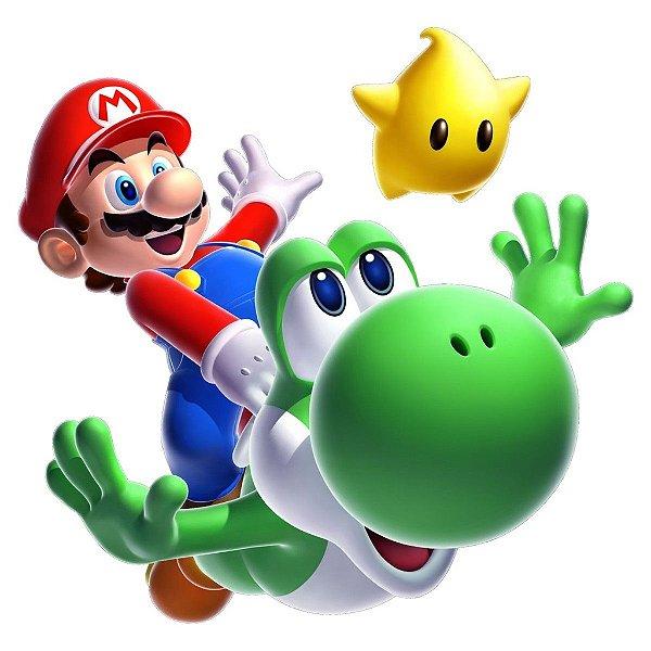Adesivo Recortado - Super Mario Bros e Yoshi 2