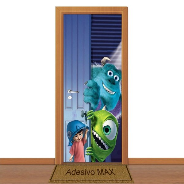 Adesivo de Porta - Monstros SA