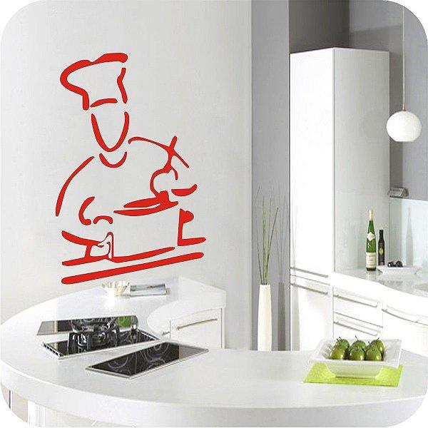 Adesivo de Parede Chef de Cozinha