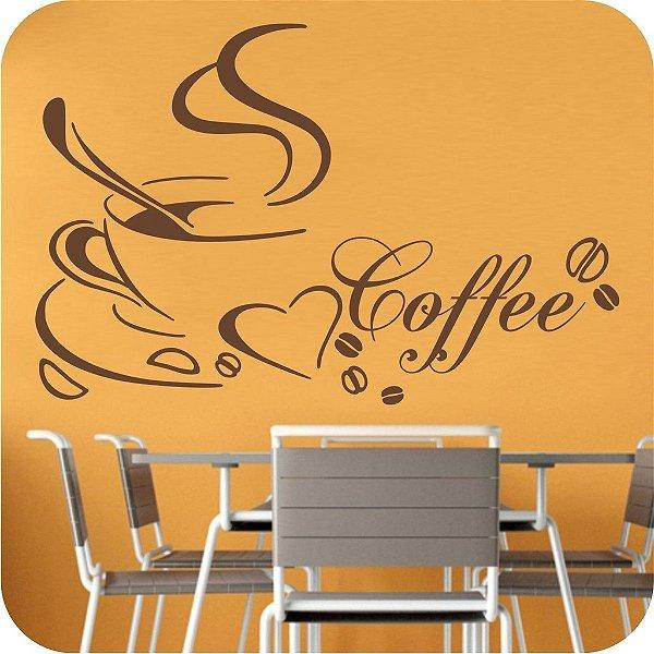 Adesivo de Parede Café Love