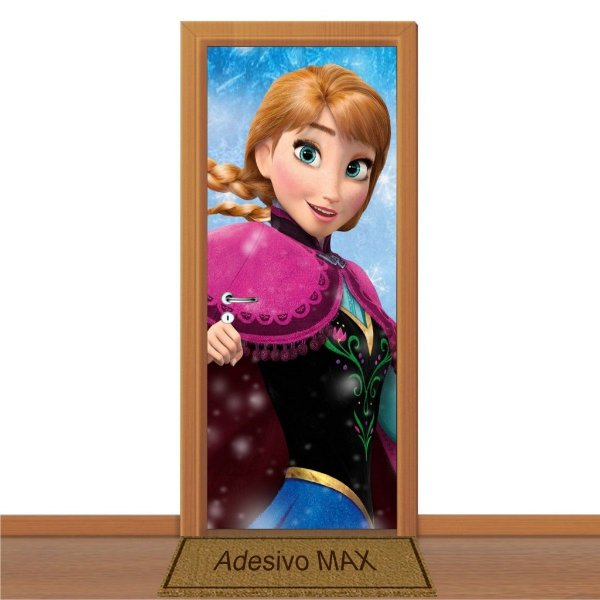 Adesivo de Porta - Frozen Anna