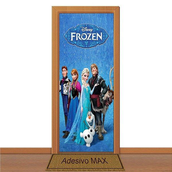 Adesivo de Porta - Frozen Anna Elsa Olaf Kristoff Hans Sven