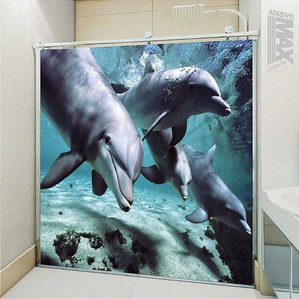 Adesivo Box - Golfinhos Mergulhando