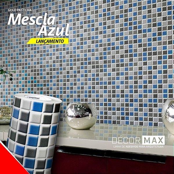 Adesivo Pastilha Mescla Azul (Rolo 1,22m x 50cm)
