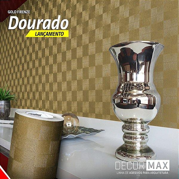 Adesivo Gold Firenze - Dourado (Largura 1,22m) - VENDA POR METRO