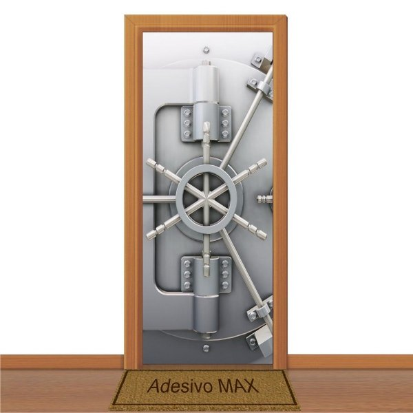 Adesivo de Porta - Cofre