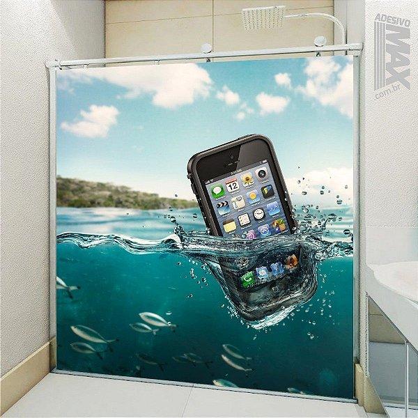 Adesivo Box - Iphone Celular Mergulhador