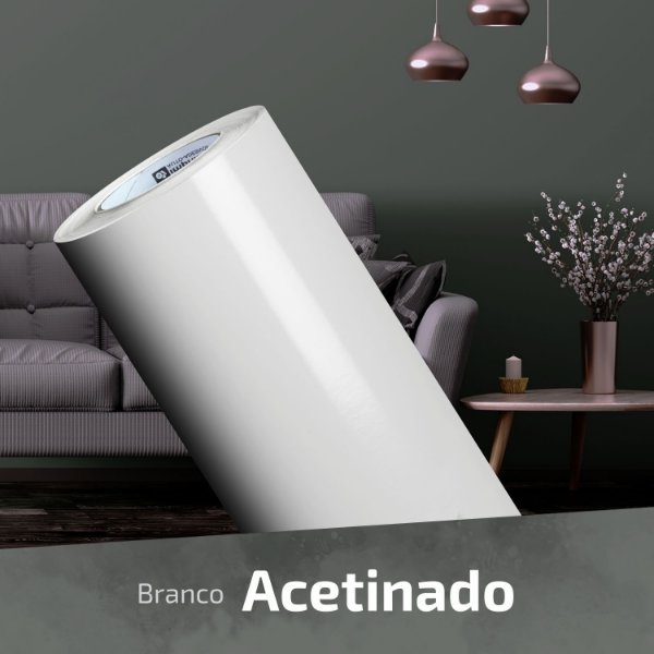 Adesivo DIGIMAX Branco Semi-Brilho (Largura 1,22m) - VENDA POR METRO