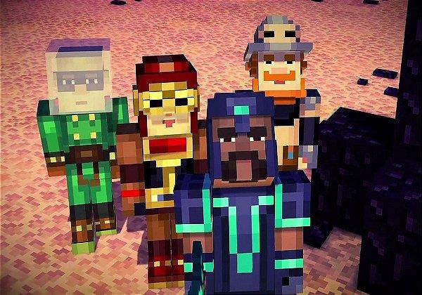 Adesivo de Parede - Minecraft Story Mode 2