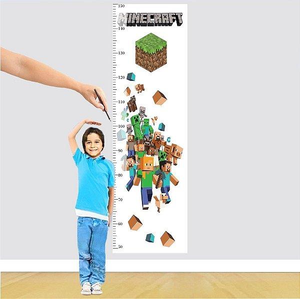 Adesivo Régua - Mundo Minecraft