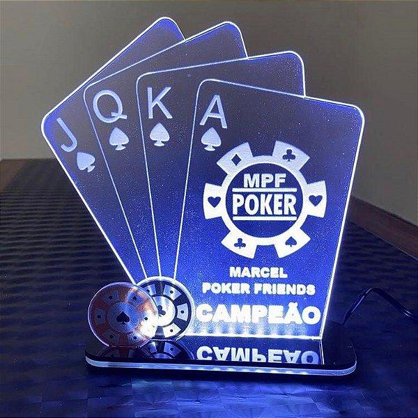 Troféu Led Ilumination - Poker Truco