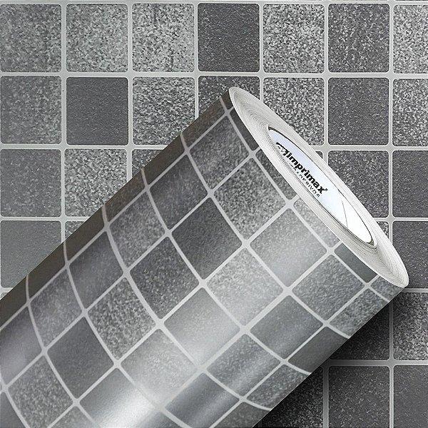 Adesivo Pastilha Inox (Rolo 1,22m x 50cm)