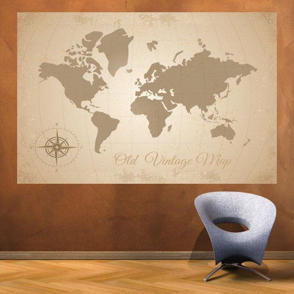 Mapa Mundi - Old Vintage