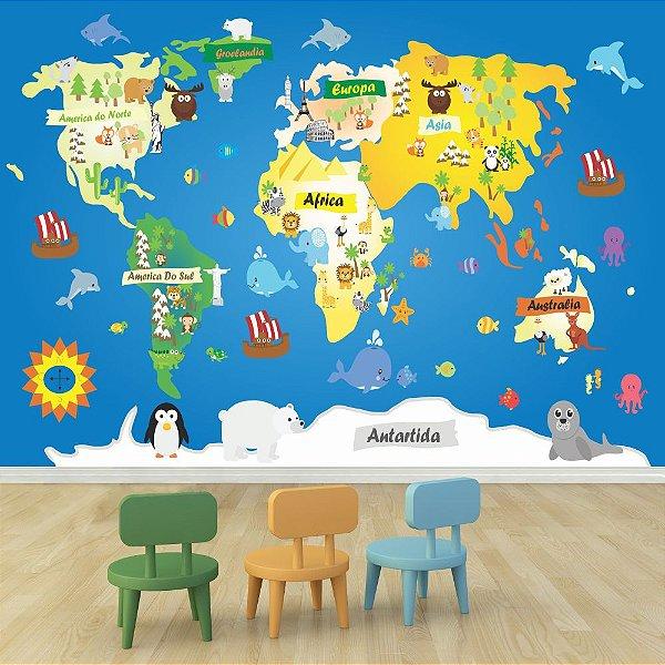 Mapa Mundi - Animais
