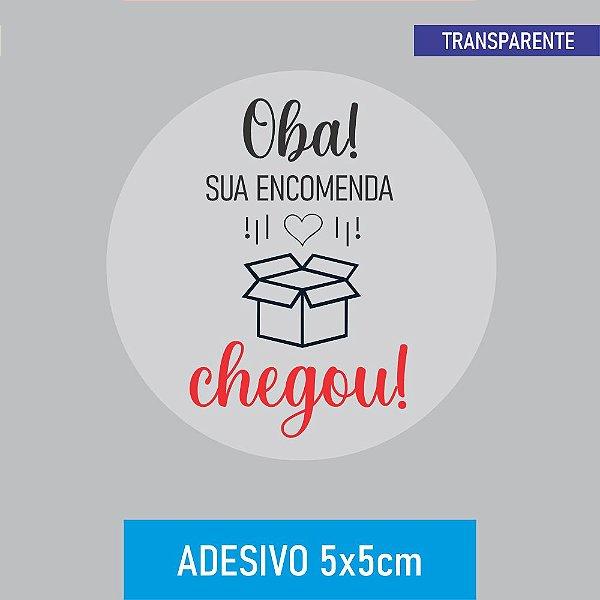 Rótulo - Chegou (Transparente)