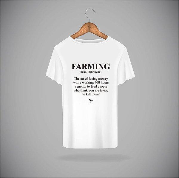 Camiseta FARMING BRANCA