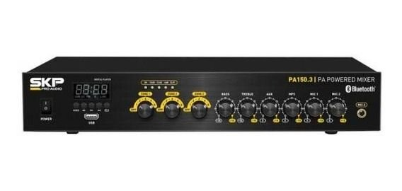 AMPLIFICADOR SKP PA-150.3 / 4 CANAIS - USB - BT