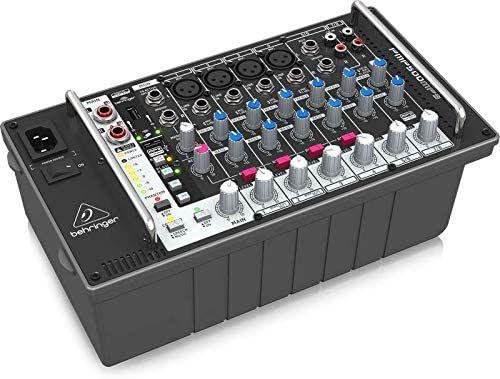 Mesa de Som Amplificada 8 Canais PMP 500 MP3 - Behringer