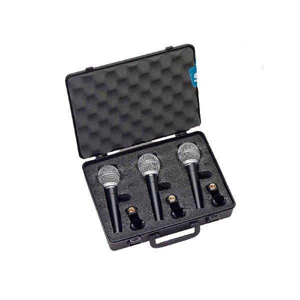 Kit 3 Microfones Vocal Bastão Dinâmico Com Fio R21S - SAMSON