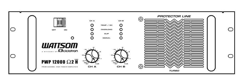 Amplificador De Potência PWP-1200 - Ciclotron