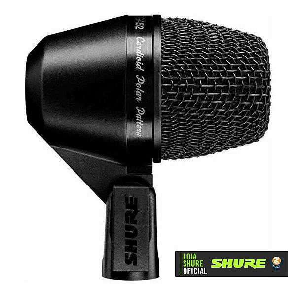 Microfone Profissional Cardioide Para Percussão PGA52 - SHURE
