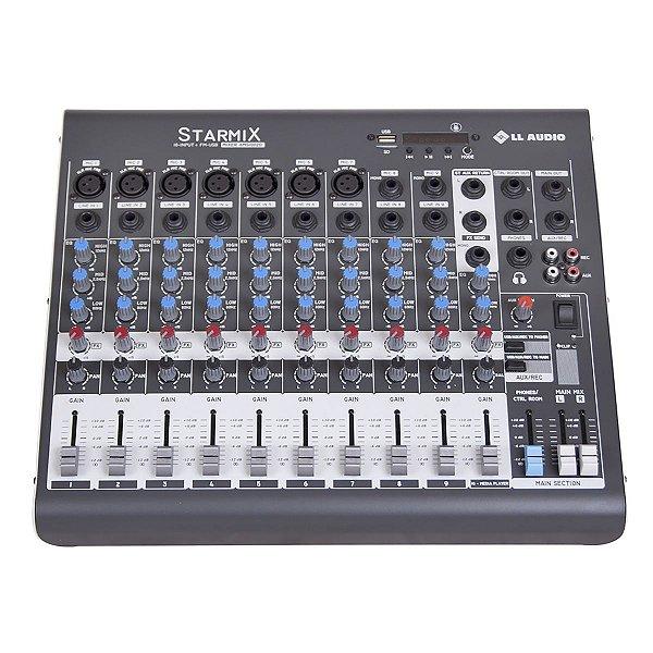 Mesa De Som XMS1002D Stereo Starmix 10 Canais -LL Áudio