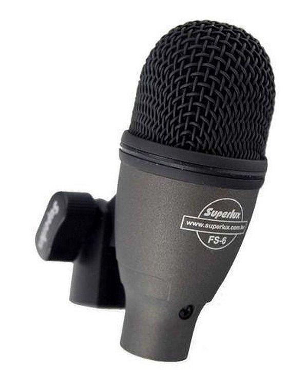 Microfone Dinâmico FS6 Super Cardióide - Superlux