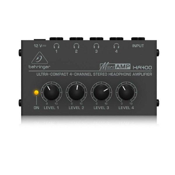 Amplificador Para Fone de Ouvido HA 400 Behringer 4 Canais
