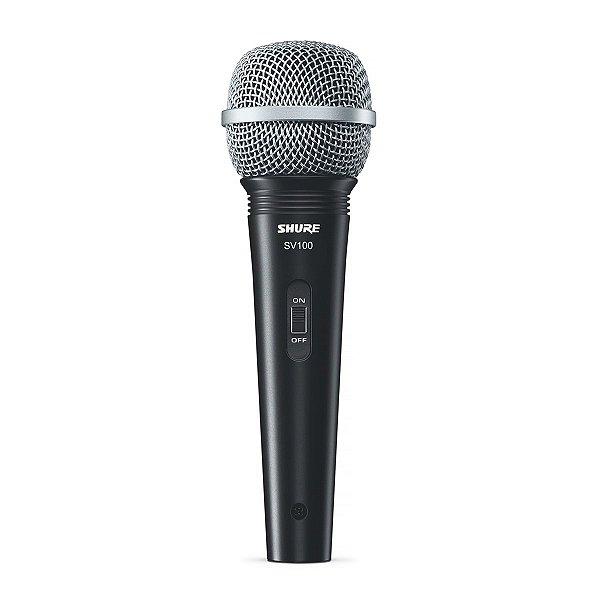 Microfone de Mão Multifuncional Com Fio Preto SV100 - SHURE