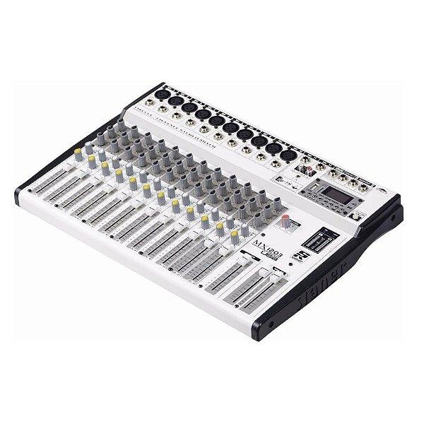 Mesa De Som Analógica Com 12 Canais MX1203 USB - STANNER
