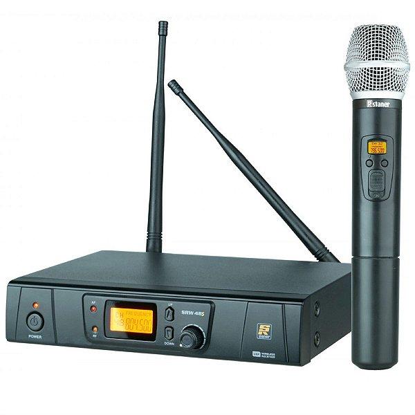 Microfone Sem Fio De Mao UHF SRW48S/HT48 - STANER