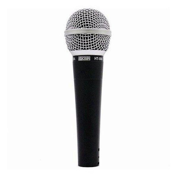 Microfone Dinâmico Com Fio HT58A - CSR