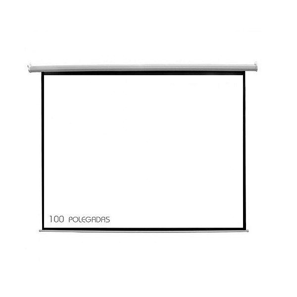 """Tela De Projeção Elétrica 100"""" 110V MWHITE - CSR"""