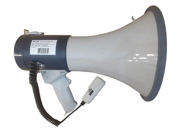 Megafone Com Microfone De Mão Sirene E Volume 25w SK66 - CSR
