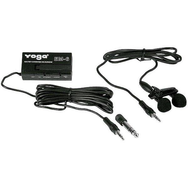 Microfone Profissional Com Fio de Lapaela EM6 - YOGA