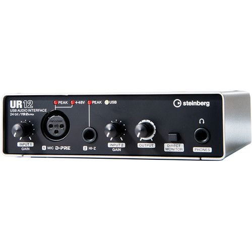 Interface De Áudio USB 2.0 2X2 UR12 - STEINBERG