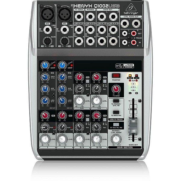 Mesa De Som Com 10 Canais XENYX Q1002 USB - BEHRINGER