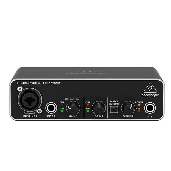 Interface De Áudio U-Phoria UMC22 - BEHRINGER
