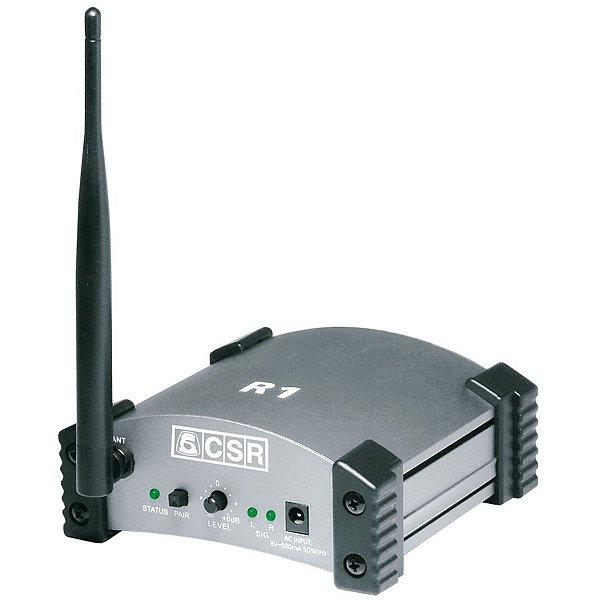Receptor De Áudio CSR 2.4G R1 Sem Fio Estéreo XLR e P10 - CSR