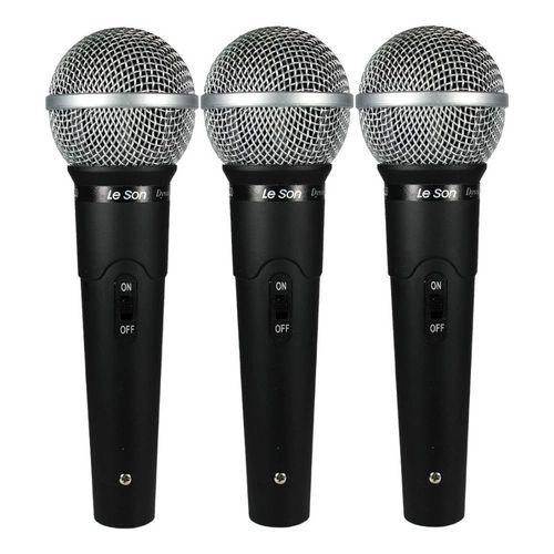 Kit Com 3 Microfones Vocais LS-50 K3 - Leson