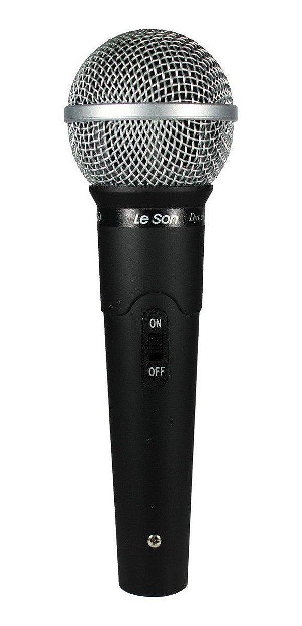 Microfone De Mão Dinâmico Cardioide Com Fio LS 50 - LESON