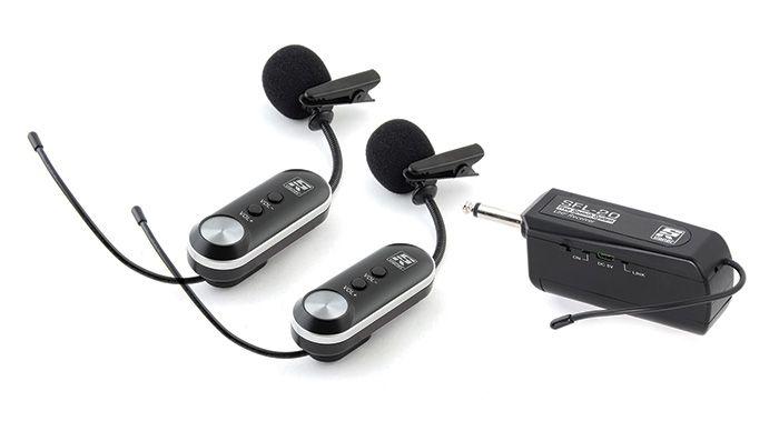 Microfone Sem Fio Lapela Duplo Digital Wireless SFL-20 UHF - STANER