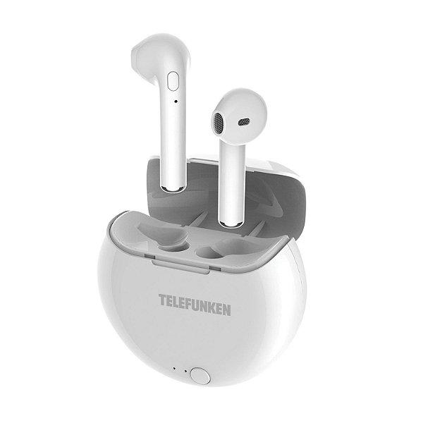 Fone De Ouvido In-Ear Bluetooth Branco TF-PH320 - TELEFUNKEN