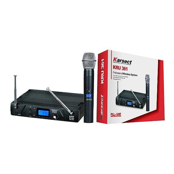 Sistema de Microfone Sem Fio Bastão 48 Canais KRU 361 - KARSECT