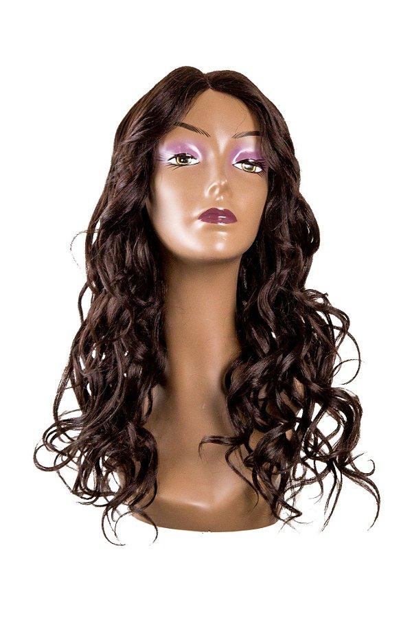 Peruca Leticia Wig - Sleek ( cor 4 castanho) Ref.: L106868/6AMW + Grátis 1 Touca Wig Cap