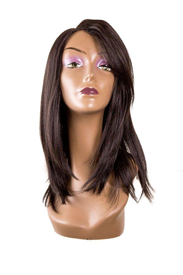 Peruca JAMILI  Wig Sleek ( Cor 2 - Castanho escuro) Ref.: RJG - L113534MW + Grátis 1 Touca Wig Cap