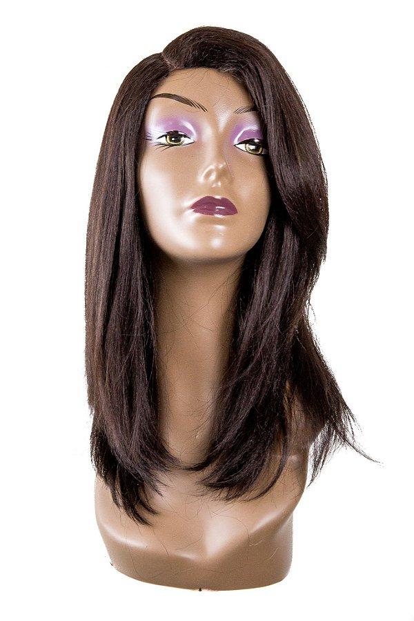Peruca JAMILI  Wig Sleek ( Cor 4 - Castanho ) Ref.: RJG - L113534MW + Grátis 1 Touca Wig Cap