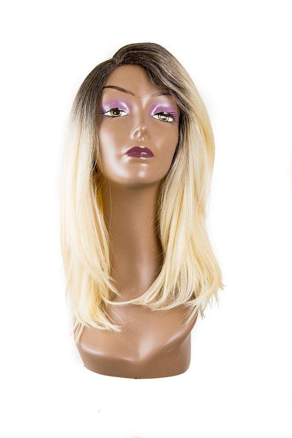 Peruca JAMILI Wig Sleek ( Cor TT4/613 - Castanho + Loiro claro ) Ref.: RJG - L113534MW + Grátis 1 Touca Wig Cap